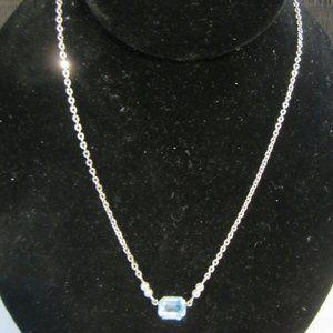 VINTAGE Girls' Aqua/Pearl Necklace